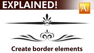 Adobe Illustrator Tutorial - How to create calligraphic border elements - 01