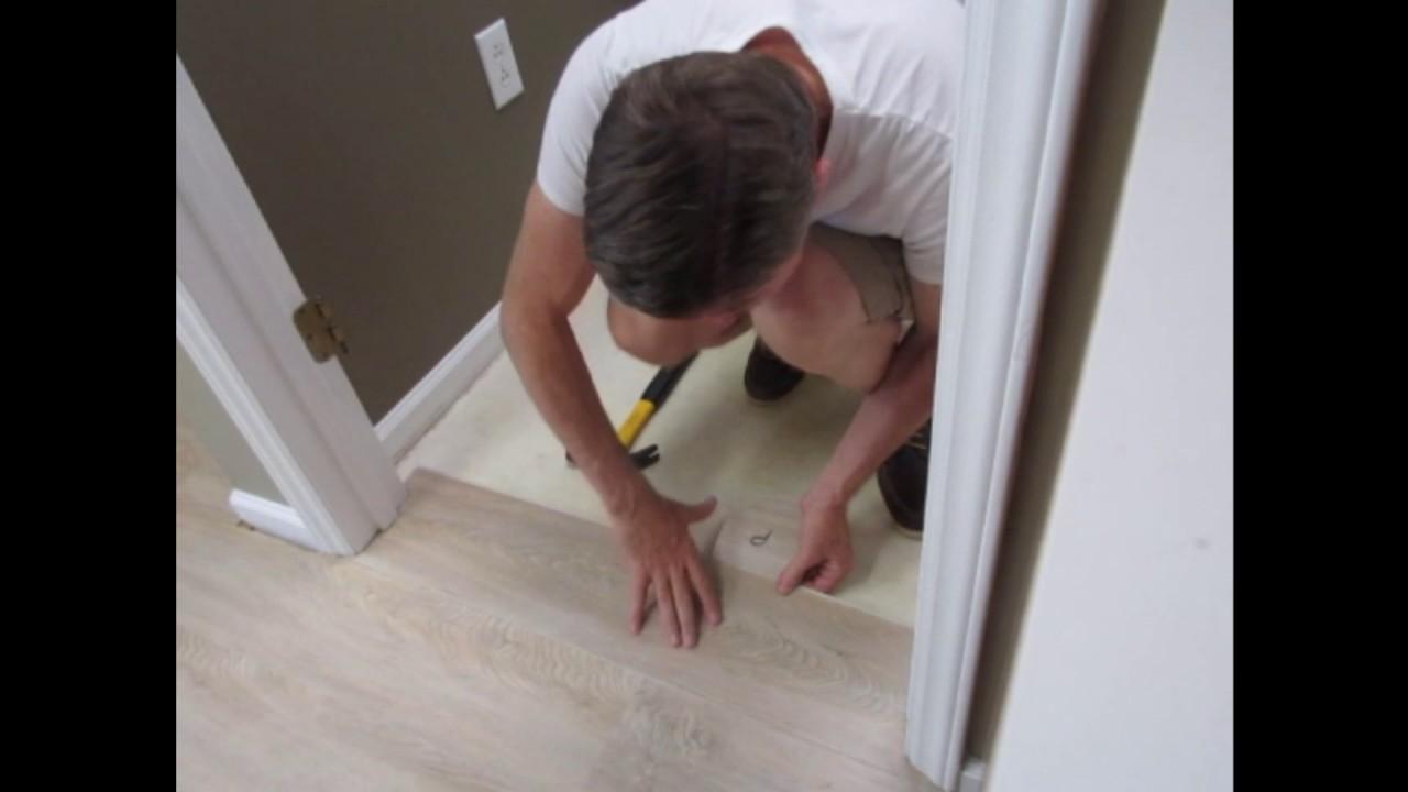 Installing LVP Planks Around Door Jambs  YouTube