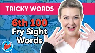 100 Tricky Words #13 | Fry Words | 6th 100 Fry Sight Words | Made by Red Cat Reading