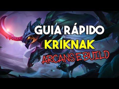 Guia Rápido Kriknak - Arcanas e Build - Arena of Valor