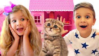 ダイアナとローマ、かわいい子猫を拾う