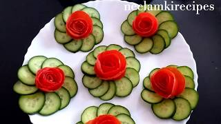 lovely and beautiful salad decoration ideas by neelamkirecipes