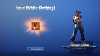 «NEW» UNLOCKING STAGE 2 LUXE (WHITE OUTFIT) sur Fortnite Battle Royale Saison 8