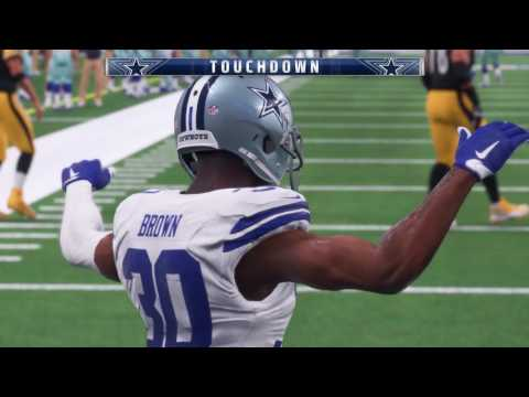 Madden NFL 18 Early Capture Gameplay | Steelers vs Cowboys | 1080p