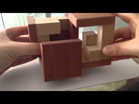 Cubo rompecabezas de madera 3 piezas youtube - Cubos de madera ...