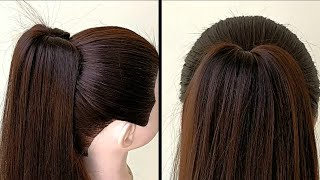 Beautiful Ponytail Hairstyle For Long Hair || High Ponytail For Girls