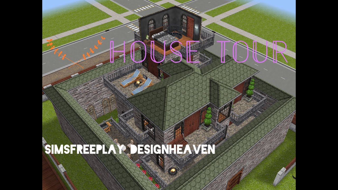sims freeplay house tour // modern castle - youtube