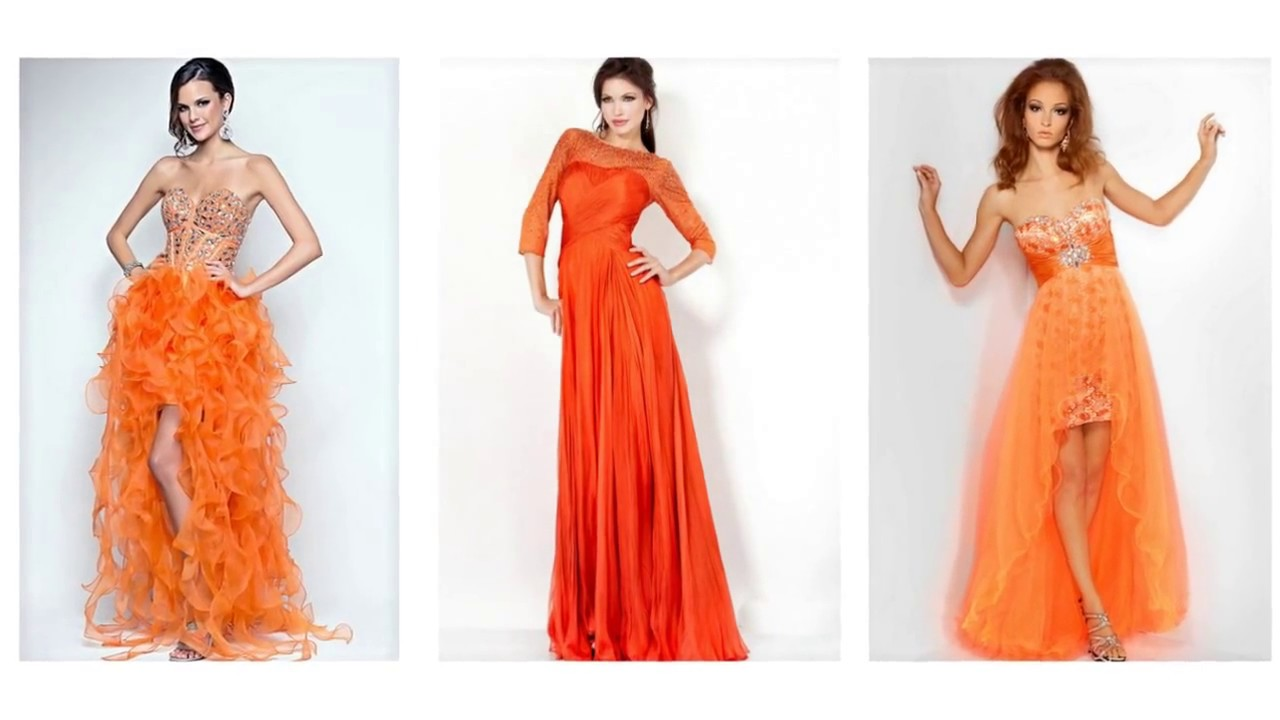 Top 100 Orange prom dresses, orange dresses for women - YouTube