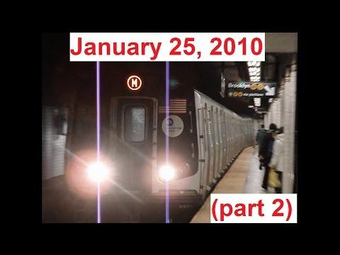 MTA NYC Subway Railfanning - January 25, 2010 (part 2)