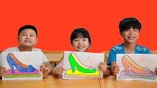 Huner Kid Go To School learn Colors high heels   Classroom Funny Nursery Rhymes & Kids Songs