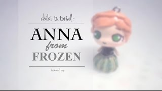 chibi tutorial anna in coronation gown inspired by the movie frozen