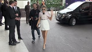 EXCLUSIVE - Blake Lively and Liam Gallagher arrive at the Martinez Hotel