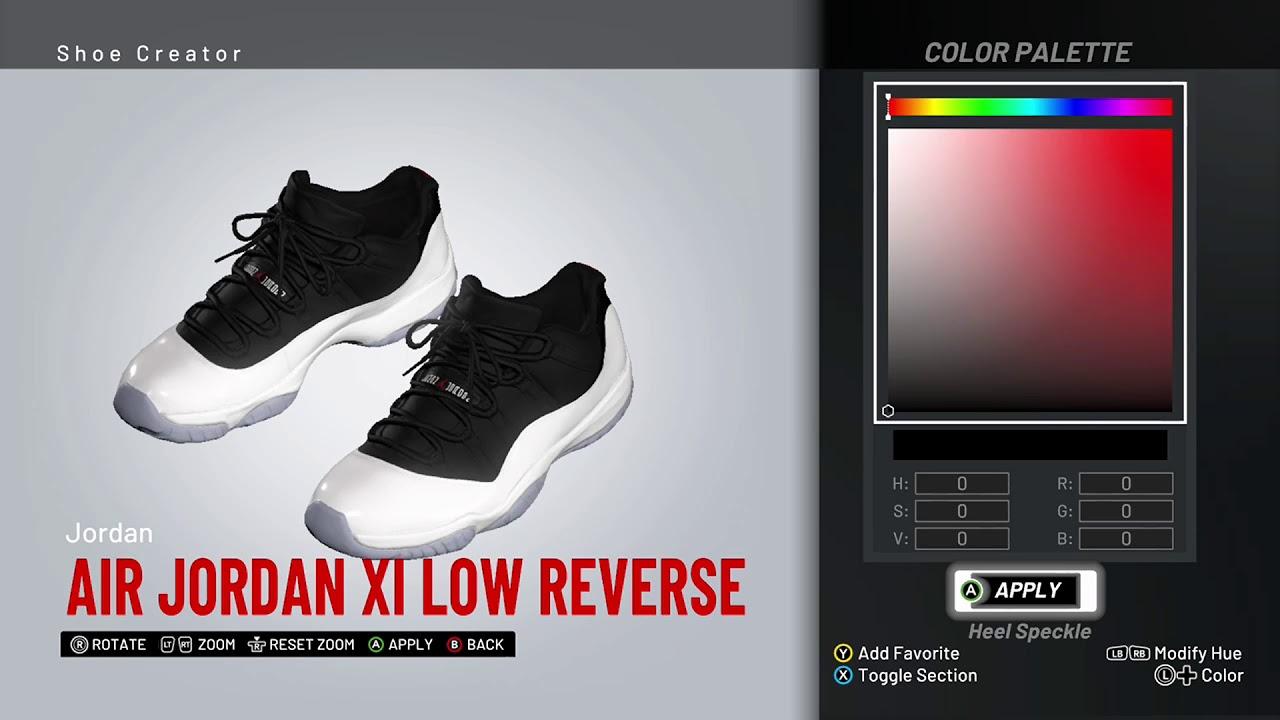 4f0fc42d2a39 NBA 2K19 Shoe Creator - Air Jordan 11 Low