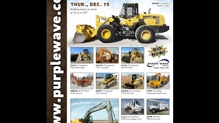 Construction equipment auction | December 15, 2016 | Purple Wave