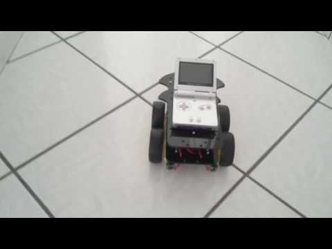 GameBoy Robot - GameBoy Advance SP As A Real Mobile Robot (Motor Test)