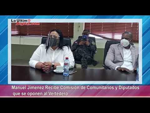 Manuel Jiménez recibe Comisión de Comunitarios y Diputados que se oponen al Vertedero.