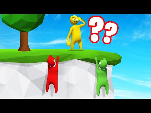 HIDING On The SIDE Of A CLIFF! (Human Fall Flat)