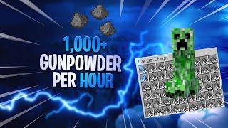 Minecraft Bedrock - EASY Creeper Gunpowder Farm! 1.14/1.15