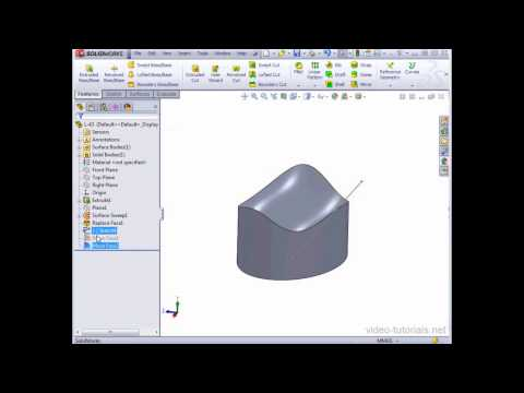 SolidWorks 2013 Surface Design - #43 - Moving faces on your surface model