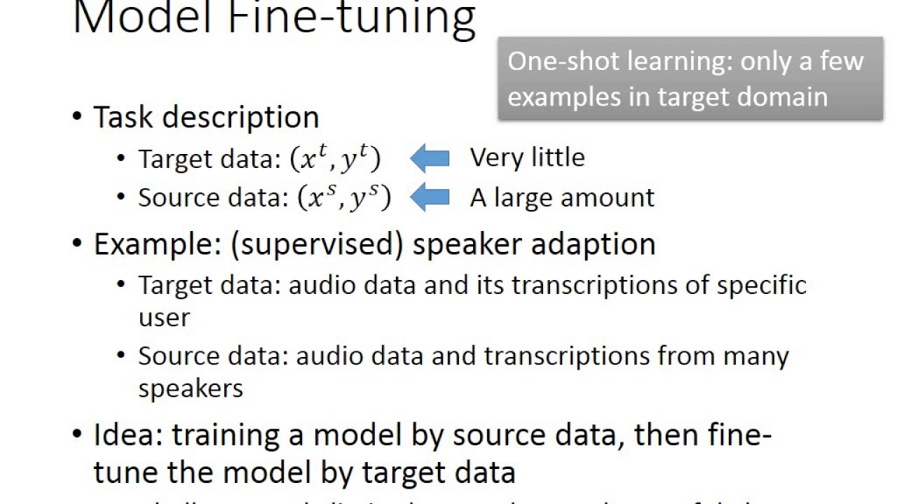 ML Lecture 19: Transfer Learning