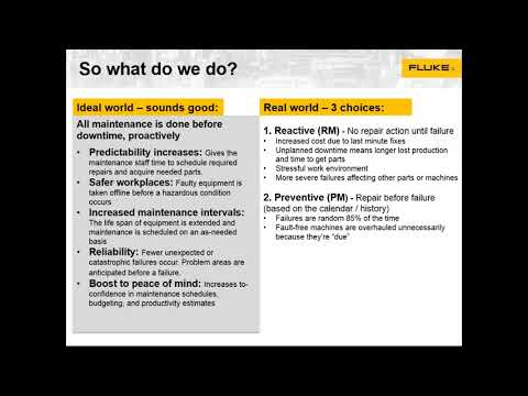 Fluke Webinar: Planned Maintenance & Motors