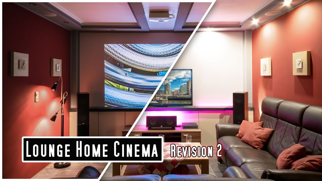 Dolby Atmos Im Wohnzimmer Home Cinema With Projector Tv Lift And Dolby Atmos Ceiling Speaker