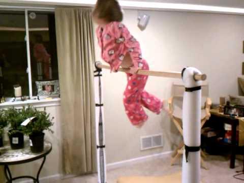 The Home Made Gymnastics Bar Finally Pays Off Youtube