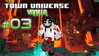 Town Universe Vanilla Bedrock: En BUSCA de una ALDEA para ubicar MI CASA #3 - 1.16.1