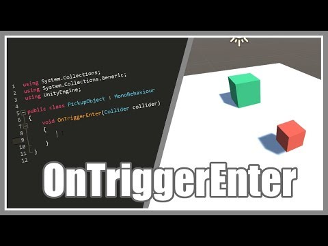 Object Pickup With OnTriggerEnter - Unity 3D 2018 - YouTube