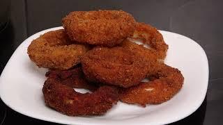 Самая популярная закуска всего 2 луковицы и 30 г сыра Луковые кольца с сыром