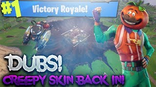 CREEPY SKIN BACK IN THE STORE! ROAD TO 300 SOLO WINS! 271+ SOLO WINS! (Fortnite Battle Royale)