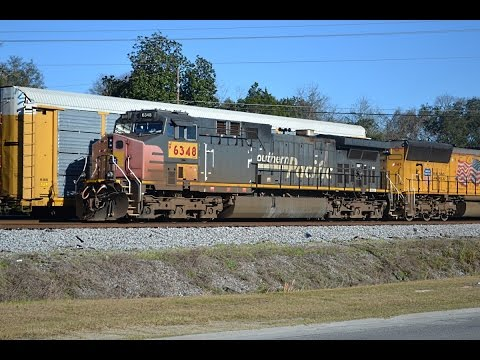 [HD] Waycross, GA Railfanning 2/7/16