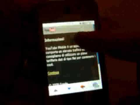 Samsung SGH F480 browsing web