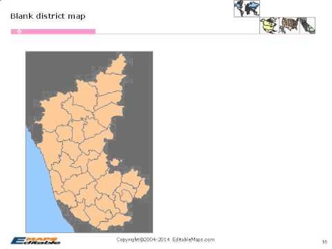 Karnataka Editable Map - YouTube