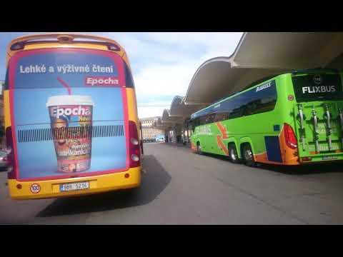 Brünn Busbahnhof Grand Hotel. RegioJet, Flixbus
