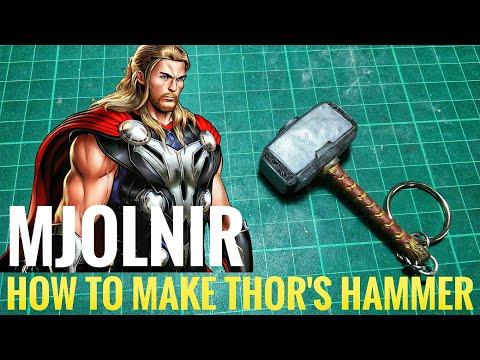 How to make Thor's hammer - Keychain tutorial (Polymer Clay)