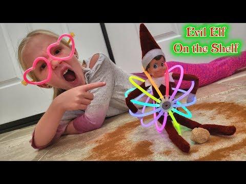Evil Elf on the Shelf Restoring Magic!!! Using Glowsticks and Cinnamon!