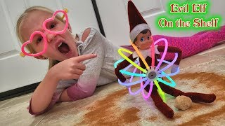 Evil Elf on the Shelf Restoring Magic!!! Using Glowsticks and Cinnamon!