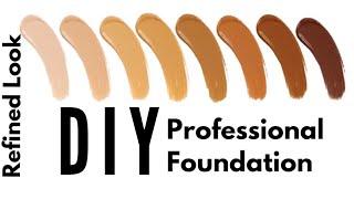 DIY Mineral Foundation   How to make foundation at home easy    Like a pro