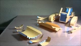 Komatsu Bulldozer Papercraft - Canon Creative Park