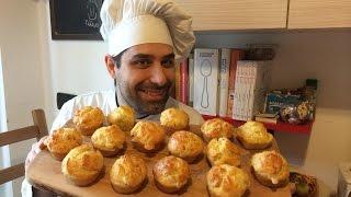 Ricetta Muffin Prosciutto Cotto E Provola - Boiled Ham & Provola Cheese Muffins Recipe (appetizers)