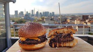 MANGALDA STEAK HOUSE BURGERİ (Karamelize Soğan Tarifi) (Steak Burger Farkı Nedir?) (Burger Köftesi)