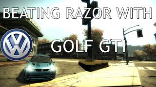Beating Razor With Golf GTI Need For Speed Most Wanted