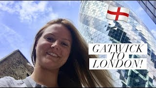 How to take the Train to London from Gatwick Airport!