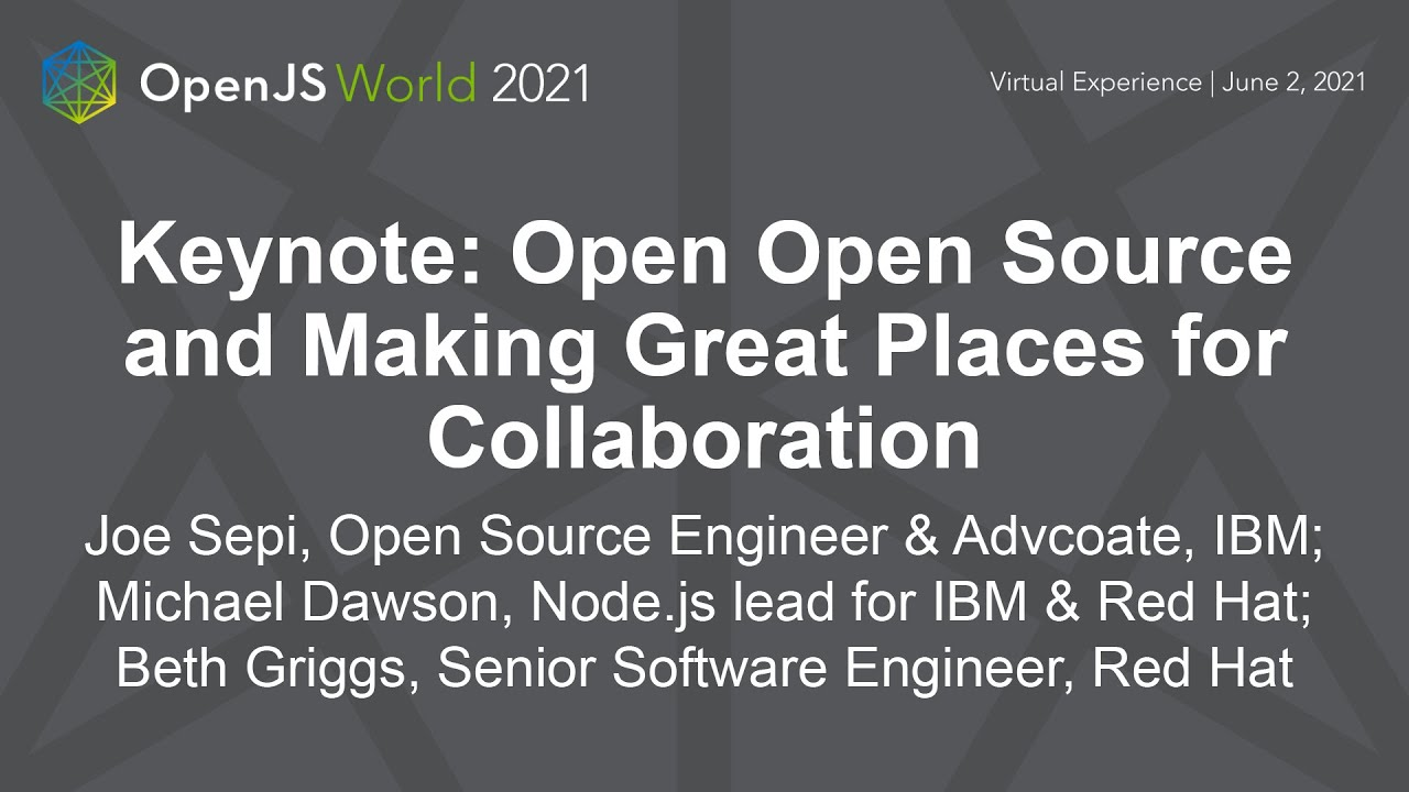 Open Open Source and Making Great Places for Collaboration