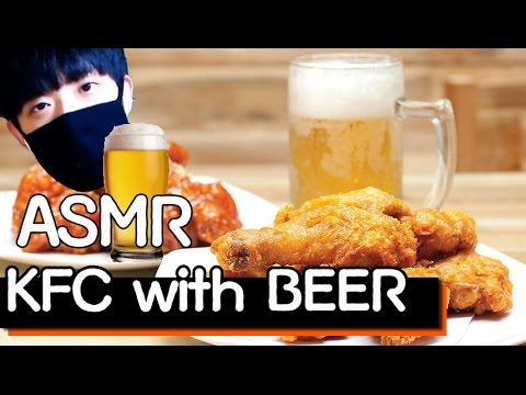 [ASMR][Korean]대학생의 치맥 먹는 소리 l Chicken with Beer Eating Sounds