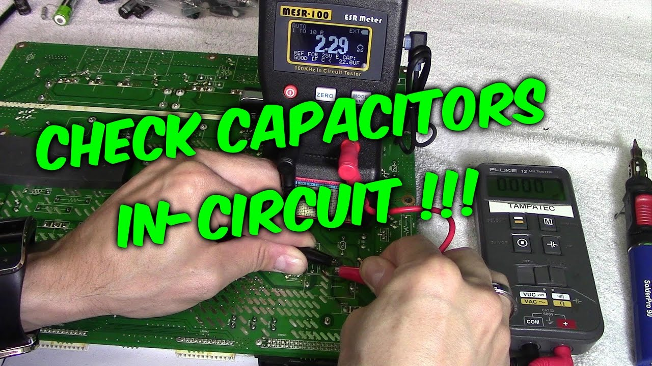 3 Ways To Check Capacitors In Circuit With Meters Testers Youtube Cen Tech Volt Gauge Wiring Diagram