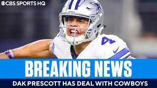 Instant Reaction: Dak Prescott agrees to HUGE deal [$126M guaranteed] with Cowboys | CBS Sports HQ