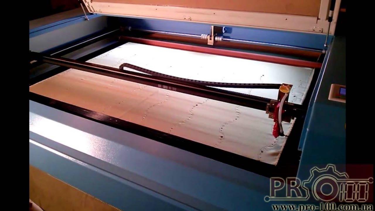 Лазерный станок с ЧПУ CNC 1390L Вырезка прокладки из резинобумаги .