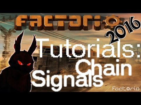Factorio 2016 How to►Train Chain Signal Tutorial◀ Gameplay [60fps, 1080p]